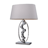 Westmore Lighting Oviedo 27-in 3-Way Chrome Indoor Table Lamp with Fabric Shade