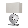 Westmore Lighting Warrensburg 21-in 3-Way Chrome Indoor Table Lamp with Fabric Shade