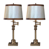 Westmore Lighting Litchfield 26-in 3-Way Antique Brass Indoor Table Lamp with Fabric Shade