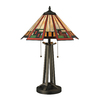 Westmore Lighting Warsaw 17-in Tiffany Bronze Indoor Table Lamp with Glass Shade