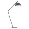 Westmore Lighting Kristo 50-in Matte Black Indoor Floor Lamp with Metal Shade