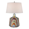 Westmore Lighting Ecclessia 23-in Multicolor Indoor Table Lamp with Fabric Shade