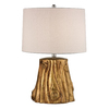 Westmore Lighting Markham 24-in 3-Way Antique Gold Leaf Indoor Table Lamp with Fabric Shade
