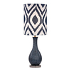 Westmore Lighting Mornsboro 24-in Navy Blue and Black Nickel Indoor Table Lamp with Fabric Shade