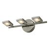 Westmore Lighting 3-Light Calistoga Brushed Nickel or Aluminum LED Bathroom Vanity Light