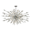 Westmore Lighting Gamma 72-in 31-Light Polished Chrome Crystal Standard Chandelier