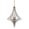 Westmore Lighting La Rochelle 3-Light Satin Silver Crystal Accent Chandelier
