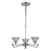 Westmore Lighting Chattanooga 16-in 3-Light Polished Chrome Crystal Standard Chandelier