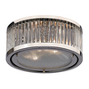Westmore Lighting Chelsea 12-in W Polished Nickel Ceiling Flush Mount