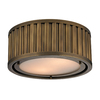 Westmore Lighting Chelsea 12-in W Aged Brass Ceiling Flush Mount
