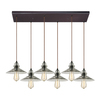 Westmore Lighting Glassmith 30-in Oil-Rubbed Bronze Mini Clear Glass Pendant