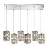 Westmore Lighting Keswick 30-in Polished Chrome Mini Crystal Pendant
