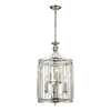 Westmore Lighting Minuet 14-in Polished Nickel Single Clear Glass Pendant