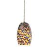 Westmore Lighting Jupiter Beach 5-in W Satin Nickel Mini Pendant Light with Tinted Glass Shade