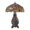 Westmore Lighting Oberon 26.00-in Dark Bronze Stained Glass Integrated Led Indoor Table Lamp with Tiffany-Style Shade