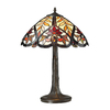 Westmore Lighting Doddington 22.00-in Dark Bronze Stained Glass Integrated Led Indoor Table Lamp with Tiffany-Style Shade