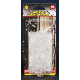 Commercial Christmas Hardware 50-Count Plastic Adhesive Clips