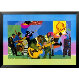 a review of rompre beardens painting jammin at the savoy Art inspired ferns batik fabric - sunset of this rainbow batik inspired by romare bearden's vibrant painting jammin at the savoy customer reviews.