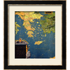 art.com 30-in W x 34-in H Maps Framed Wall Art