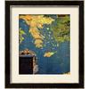 art.com 30-in W x 34-in H Maps Framed Art