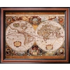 art.com 26-in W x 32-in H Maps Framed Wall Art