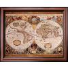 art.com 26-in W x 32-in H Maps Framed Art