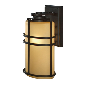 allen + roth Altabourne 12-1/4-in Oil-Rubbed Bronze Outdoor Wall Light