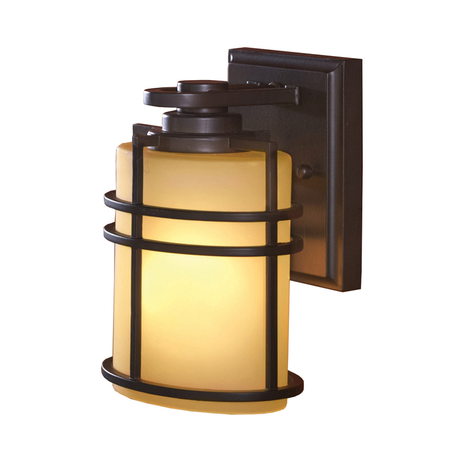 allen roth altabourne 8 in h oil rubbed bronze outdoor wall light. Black Bedroom Furniture Sets. Home Design Ideas