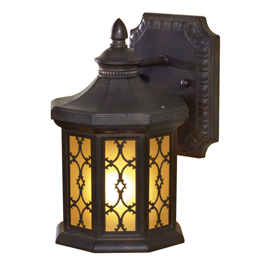 Shop Allen Roth Hardaway 9 In H Marbella Wrought Iron Outdoor Wall Light At