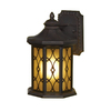 allen + roth Hardaway 12-1/2-in Marbella Wrought Iron Outdoor Wall Light