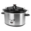 KALORIK 8-Quart Stainless Steel Oval Slow Cooker