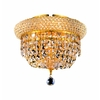 Luminous Lighting 10-in W Gold Ceiling Flush Mount