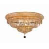 Luminous Lighting 24-in Gold Ceiling Flush Mount