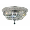 Luminous Lighting 24-in Chrome Ceiling Flush Mount