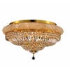 Luminous Lighting 28-in Gold Ceiling Flush Mount