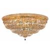 Luminous Lighting 48-in W Gold Ceiling Flush Mount