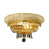 Luminous Lighting 12-in W 1-Light Yellow/Gold Pocket Hardwired Wall Sconce