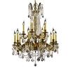 Luminous Lighting 28-in 15-Light French Gold Standard Chandelier