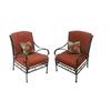 Garden Treasures Steel Creek 2-Count Steel Patio Conversation Chairs