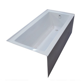 Display product reviews for Ibis Acrylic Rectangular Alcove Bathtub with  Right-Hand Drain (Common