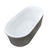 Endurance Endurance 66.8-in L x 33.6-in W x 24-in H White Acrylic Oval Freestanding Air Bath