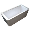 Endurance Endurance Acrylic Rectangular Freestanding Bathtub with Center Drain (Common: 32-in x 67-in; Actual: 24.5-in x 32-in x 66.75-in)