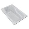 Endurance Falcon 58.5-in L x 35.5-in W x 23-in H White Acrylic Rectangular Drop-in Whirlpool Tub and Air Bath