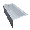 Endurance Ibis Acrylic Rectangular Alcove Bathtub with Left-Hand Drain (Common: 30-in x 60-in; Actual: 21-in x 30-in x 60-in)