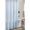 allen + roth Polyester Aqua Geometric Shower Curtain