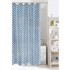 Colordrift Spring Polyester Indigo Geometric Shower Curtain