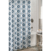 allen + roth Polyester Blue Patterned Shower Curtain