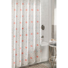 allen + roth Polyester Coral/Aqua Patterned Shower Curtain