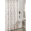 allen + roth Polyester Grey Patterned Shower Curtain
