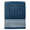 Colordrift Diamond 27-in x 52-in Blue Cotton Bath Towel